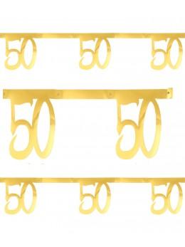Banderole âge 50 ans métal or