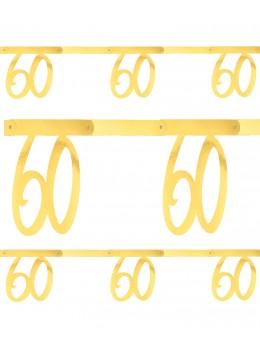 Banderole âge 60 ans métal or