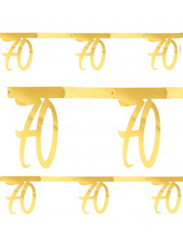 Banderole âge 70 ans métal or