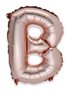 Ballon lettre B alu 36cm rose gold