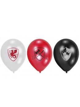 6 ballons 22cm médiéval