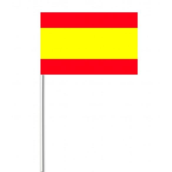 10 Drapeaux papier Espagne
