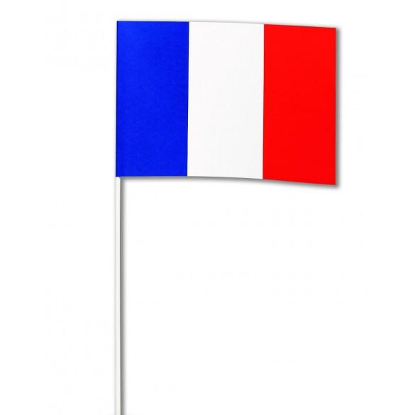 10 Drapeaux papier France