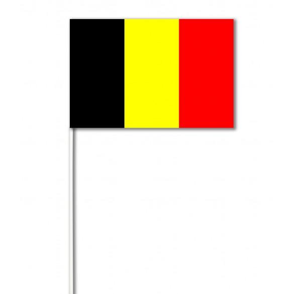 10 Drapeaux papier Belgique