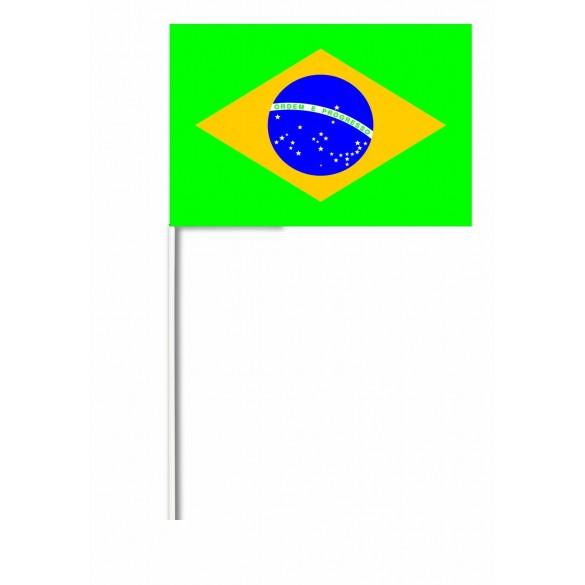 10 Drapeaux papier Brésil