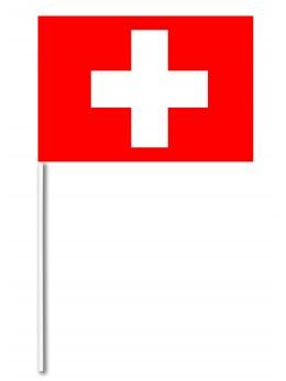 10 Drapeaux papier Suisse