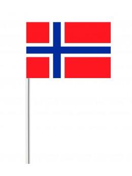 10 Drapeaux papier Norvège