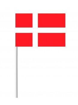 10 Drapeaux papier Danemark