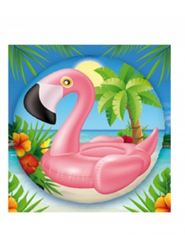 Ballon alu Flamant Rose 45cm