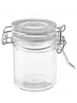12 Pot à dragées confiturier transparent