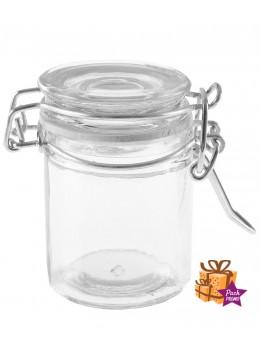 144 Pot à dragées confiturier transparent