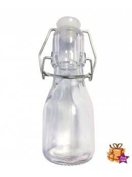 12 Mini bouteille limonadier transparent 11cm