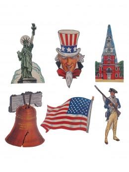 6 Décos carton USA