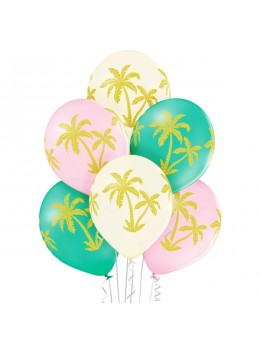 6 ballons jungle palmiers