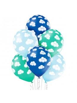 6 ballons nuage garçon