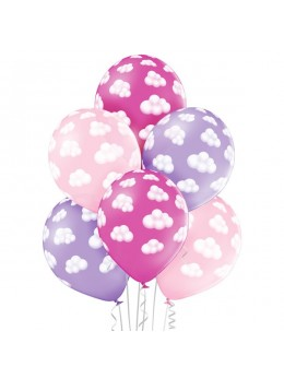 6 ballons nuage fille