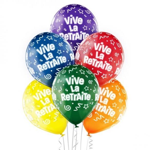 6 Ballons Vive la retraite