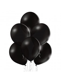 8 Ballons Noir 30cm