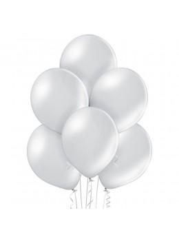6 Ballons Argent nacré 30cm