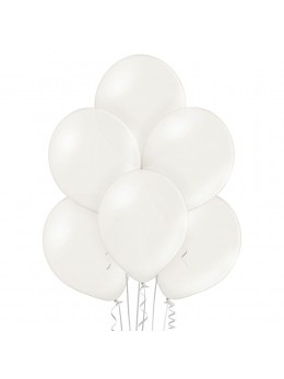 6 Ballons blanc nacré 30cm