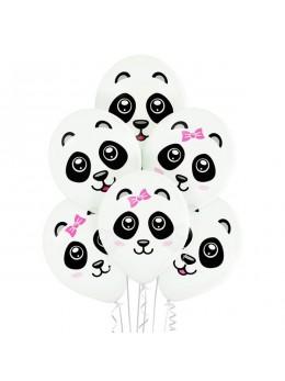 6 ballons Panda 30cm