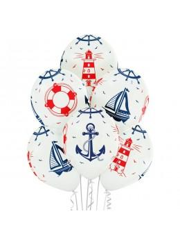 6 ballons thème marin