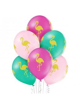6 ballons flamant rose 30cm