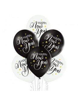 6 ballons Happy New Year