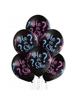 6 ballons baby shower bébé surprise