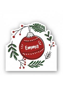 6 marque place boule de Noël
