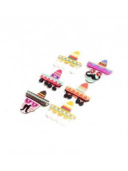 6 stickers Mexicain 4.5 cm