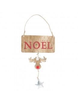 Panneau bois Noël avec Renne