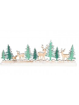 Centre de table forêt de Noël