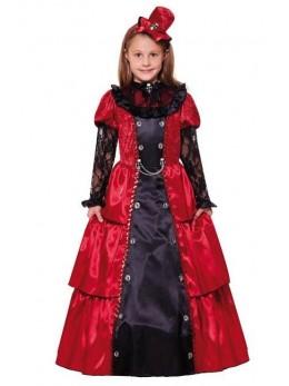 Déguisement princesse victorienne rouge