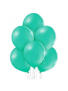 8 Ballons Vert d'eau 30cm