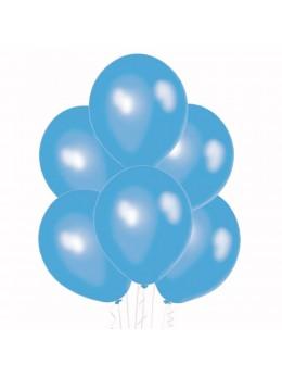 6 Ballons Bleu ciel nacré 30cm