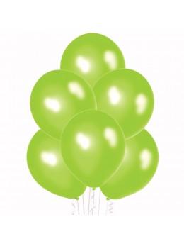 6 Ballons vert pomme nacré 30cm