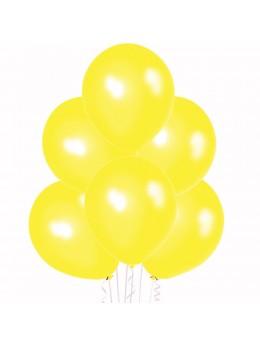 6 Ballons jaune nacré 30cm