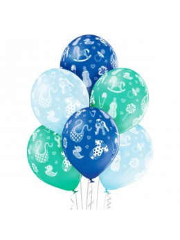 6 ballons baby shower garçon