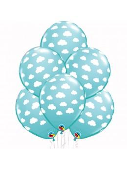6 ballons nuage bleu caraibe
