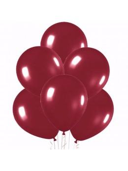 20 ballons bordeaux nacrés