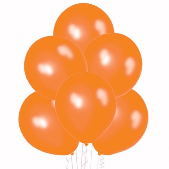 20 ballons orange nacrés