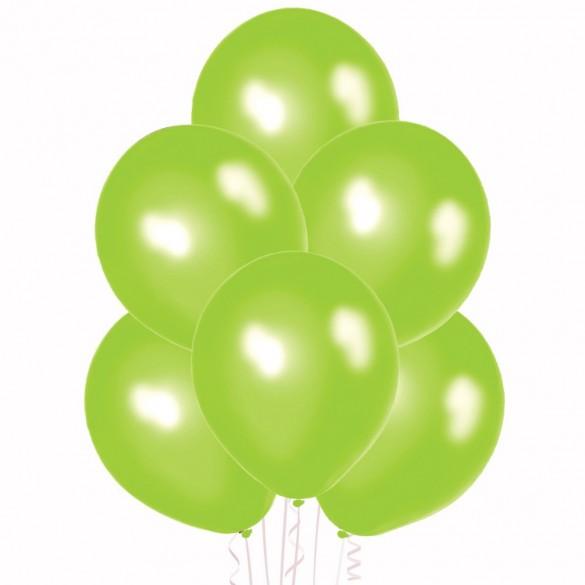 20 ballons vert pomme nacrés