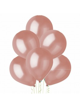 50 ballons rose gold nacrés