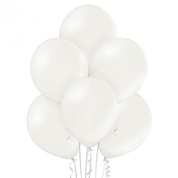 50 ballons blanc nacré