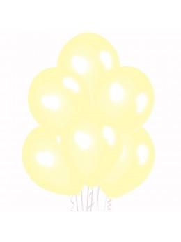 50 ballons ivoire nacrés