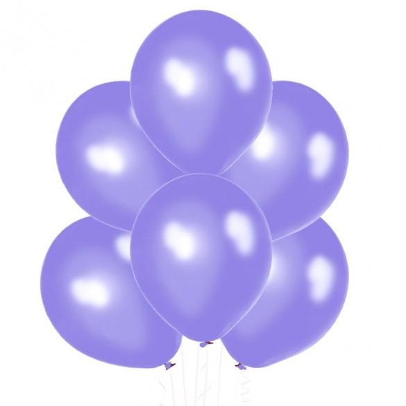 50 ballons lilas nacrés