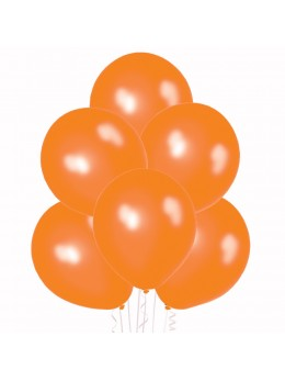 50 ballons orange nacrés
