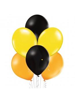 50 ballons Noir jaune et rouge