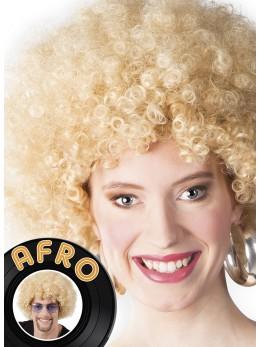 Perruque Afro Blonde promo